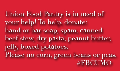 Food Pantry in Need of Help!