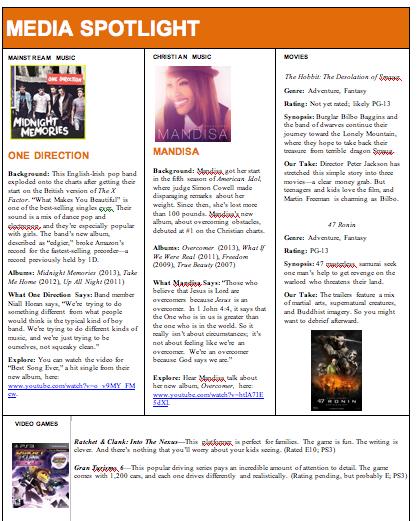 December 2013 Media Spotlight